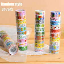 10Pc/Set Lots Paper Sticky Adhesive Sticker Decorative Washi Tapes magic top