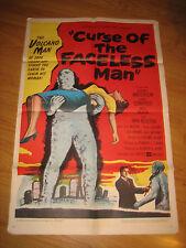 CURSE OF THE FACELESS MAN Original 1sh Movie Poster '58 volcano man of 2000 year