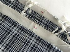 Pair of Hand loomed Indigo Blue Antique French Kelsch Duvets From Alsace Checks