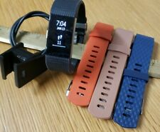 Fitbit Charge 2 HR Heart Rate Activity Tracker  Small Bands W/Charger FB407