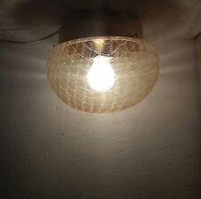 60er/70er Jahre Deckenlampe Space Age Wandlampe Lampe Lamp 70s Glasschirm 60s