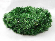 "A Nice Fluffy Green Tinsel Garland 18.66 Feet Long 4"" Wide"