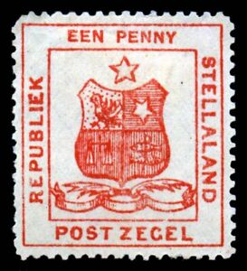 Stellaland. 1884. 1d. Red. SC# 1. Perf 12. MH. SCV $375