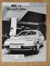 VAUXHALL CARLTON 2000 SALOON 1978-79 UK Mkt Road Test Brochure