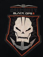 Black Ops 2 Call of Duty T Shirt Tee Skull Anchor Black Game Logo M Cotton XBox