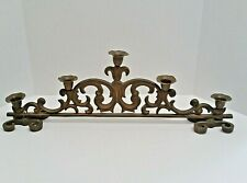 """Sturdy Rustic Cast Iron Fireplace or Centerpiece 5 Candle Holder 22"""" & 5 Pounds"""
