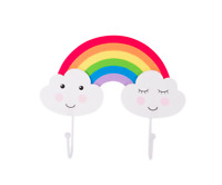 Sass & Belle Day Dreams Happy Cloud Rainbow Double Wall Hook Kids Bedroom Decor
