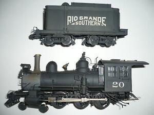 ON3 Narrow Gauge Brass Sunset RGS 4-6-0 Locomotive #20 C/P.