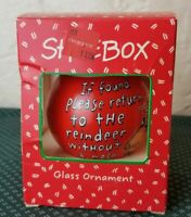 Vintage Hallmark 1993 Shoebox Christmas Glass Ornament Reindeer Without A Nose