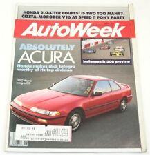 AutoWeek, May 8 1989, Acura Integra, Honda Accord
