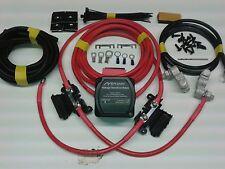 2mtr Split Charge Relay Kit 12V 140amp M-Power VSR System Ready Made Leads
