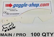 Qté 100 goggle-shop motocross tear offs to fit fox main / pro Lunettes Palmes