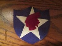 WWI US Army 2nd Division MG patch wool