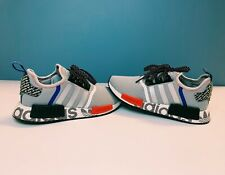 Adidas Originals NMD R1 Transmission Pack Logo Grey Black Blue Red Silver FV5217