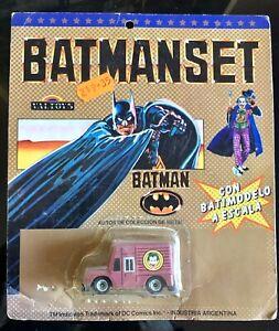 DC Batman Joker Van made in Argentina 1989 movie rare MOC Batmanset