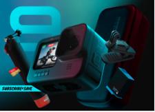 NEW GoPro HERO 9 BUNDLE Black Action Streaming Camera 5K Video 20MP
