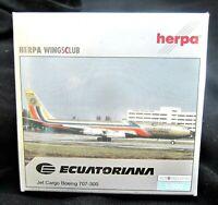 herpa ecuatoriana yet cargo b707-300 1:500 nr 513517 in ovp aus sammlg selten!