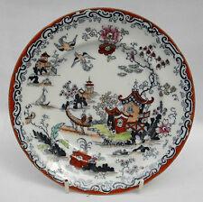 Vintage b.t.p. Co. Ironstone Placa De China-patrón de japonés - 18.5 cm de diámetro.