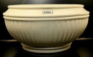 "Vintage Royal Haeger 10"" Ribbed planter bowl 204 cream glaze"