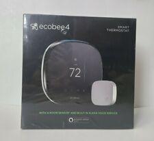 ecobee ecobee4 4 Smart Thermostat with Room Sensor - Black - Alexa Enabled - NEW