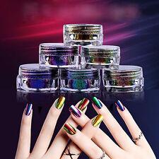 0.2g Chameleon Chrome Powder Nails Duo Rainbow Mirror Color Shift 6Color/Set