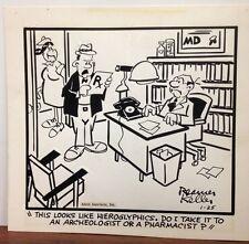MEDICARE Original Daily Comic Strip Art CHARLES REAMER KELLER Dr Doctor Dumphy