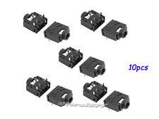 10pcs DIP PCB Mount 5 Pins Female 3.5mm Stereo Audio Jack Socket Black s649-2