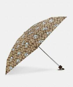 Coach X Peanuts Mini UV Protection Umbrella In Signature Snoopy Print - NWT
