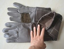 Long Leather Animal Handling Gloves Protect Dog Cat Bird Reptile Bites Scratch