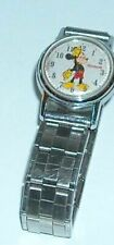 Vintage Ingersoll Mickey Mouse Mechanical Wind Up Watch with a Stretch Band