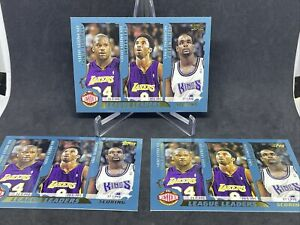 3x 2001-02 Topps Kobe Bryant, Shaq O'Neal #215 League Leaders LA Lakers HOF