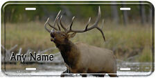 American Elk Deer Aluminum Any Name Personalized Car Auto Novelty License Plate