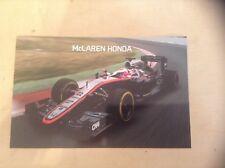 McLaren Honda MP4-30 F1 Car Team Card