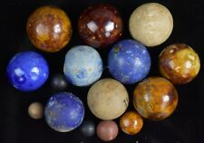 Early Bennington & Clay Marbles Lot Large Ones & Best Ones (15)