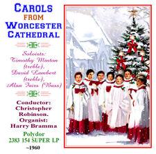 Christmas Carols From Worcester Cathedral CD 1972 - Boy Sopranos  Lambert/Linton