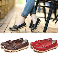 Women Soft Leather Buckle Belt Casual Peas Non-Slip Nurse Flats Outdoor Shoes