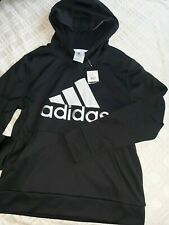 Boys Adidas Black  Hooded Hoodie pullover jacket Size Youth  10 12