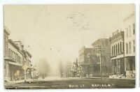 RPPC Main Street View NAPLES NY Finger Lakes Ontario County Real Photo Postcard