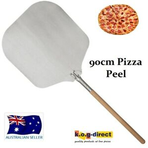 PROFESSIONAL OVEN PIZZA PEEL PADDLE LIFTER WITH WOODEN HANDLE 90CM