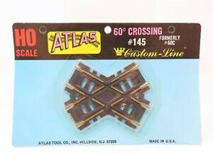 HO Scale Atlas #145 Custom Line 60 Degree Brass Crossing Track - Sealed