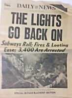 Daily News Newspaper 1977 Lights ON Vintage