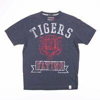 NAUTICA FLYING TIGERS Grey Big Logo T-Shirt Size Men's Medium