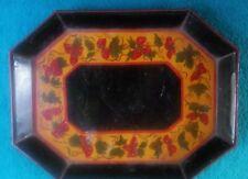 Wonderful Vintage Strawberry Painted Diminutive Tole Tray
