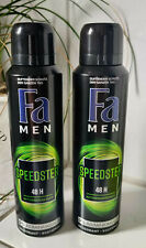 2 x Fa Deospray Men Speedster 48h 150ml 0% Aluminiumsalze