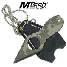 """Mtech MT588DG Knives Fixed Knife Camo Finish Grenade Neck Knife 4 1/2"""" Overall"""