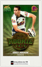 2011 Select NRL Champions Trading Cards Rookie 2010 R1 Corey Norman (Broncos)