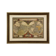 Framed World Map Wall Art - Vintage Style. - RRP £508.49