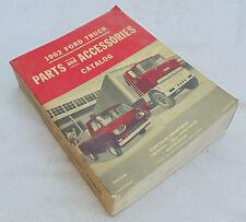 1962 FORD TRUCKS - MINT CONDITION ORIGINAL COPY OF PARTS & ACCESSORIES CATALOG