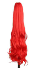 """Long Wavy 21"""" Colorful Clip In/On Hair Extensions Piece Curly Claw Ponytail"""
