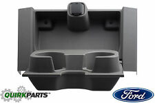 2015-2016 Ford F-150 Split Bench Center Seat Front Cup Holder Black OEM NEW